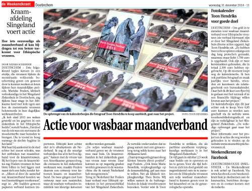 De Weekendkrant 31-12-2014